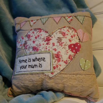 Home is where your Mum is cushion